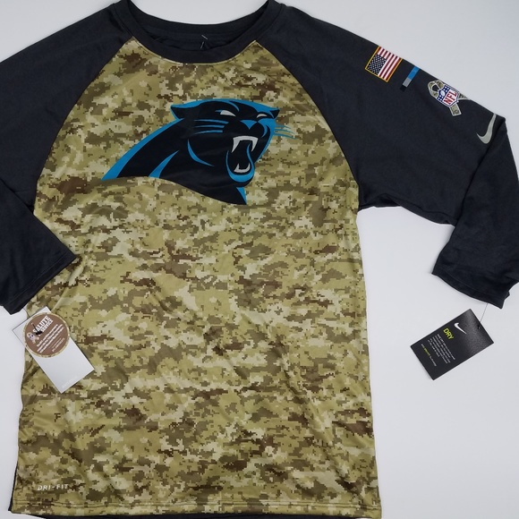 100% authentic 28c64 9d217 NEW Nike Carolina Panthers Salute To Service Camo NWT